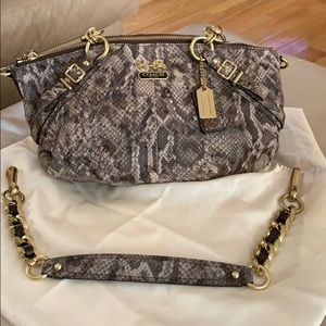 Coach Python Embossed Shoulder Bag or Satchel